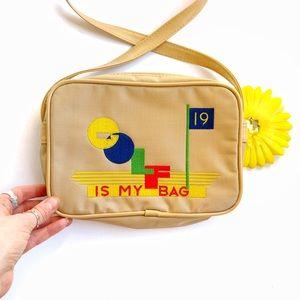 Vintage⛳️70s/80s Embroidered Golf Purse/Bag!
